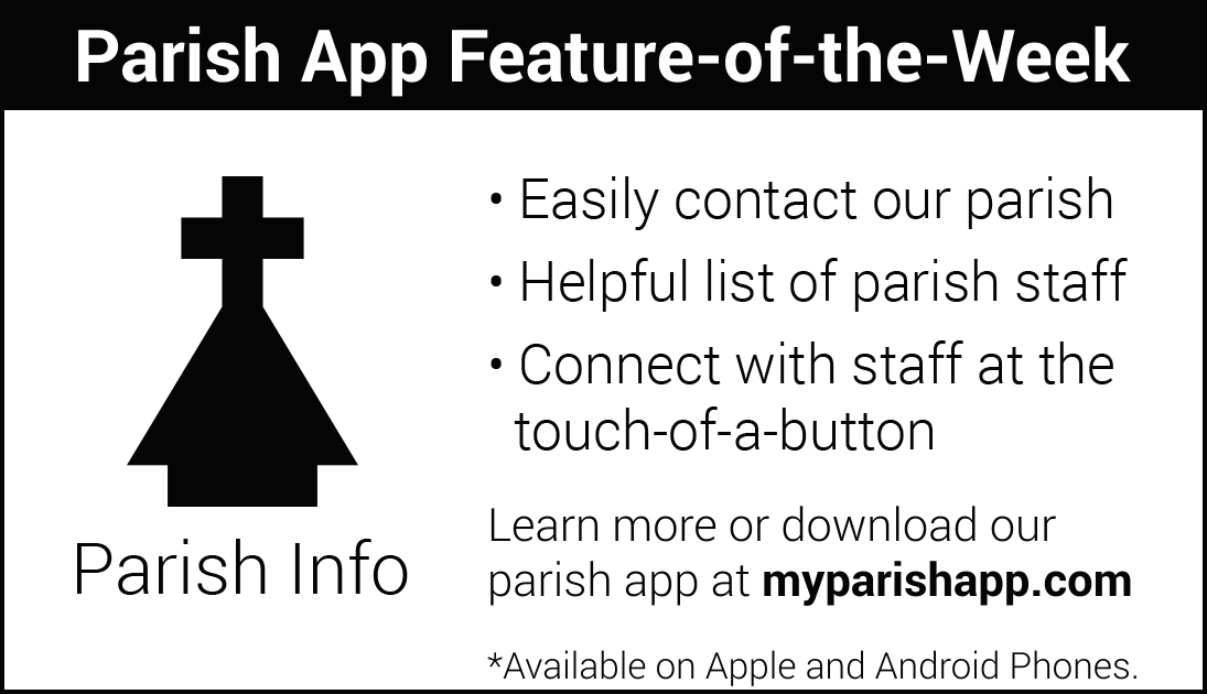 App Feature of the Week: PARISH INFO