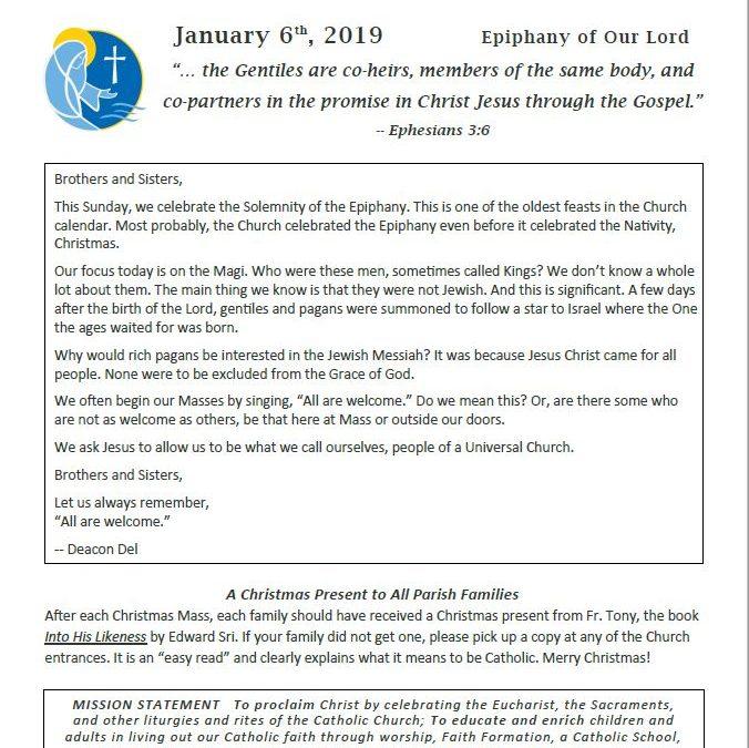 01.20.2019 Bulletin