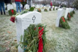 Christmas Wreaths at OLL Cemetery (Date correction!)