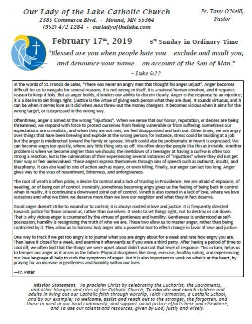 02.24.2019 Bulletin