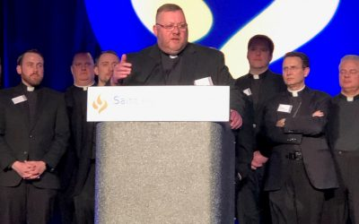Fr. Tony Accepts Award for Companions of Christ
