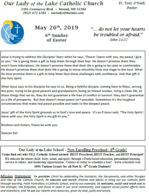 05.26.2019 Bulletin