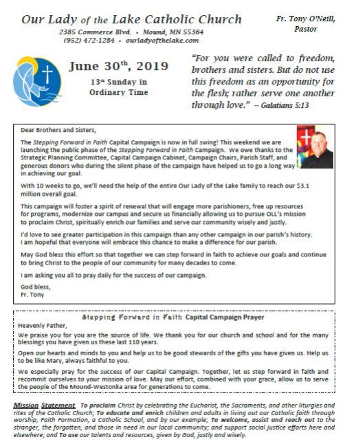 06.30.2019 Bulletin