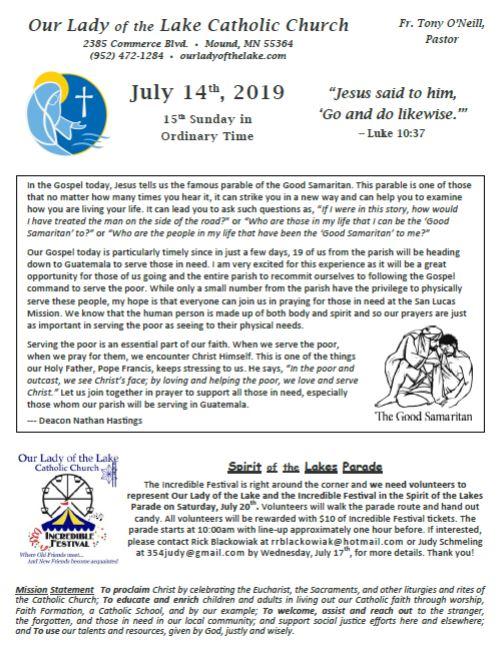 07.14.2019 Bulletin