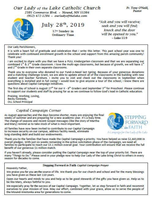 07.28.2019 Bulletin