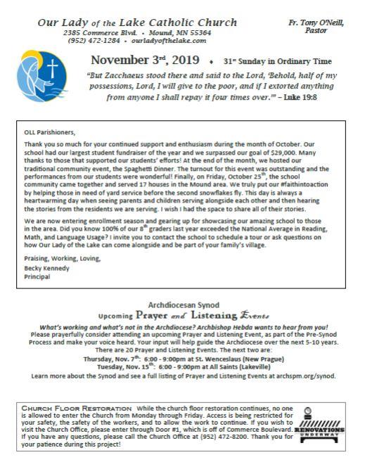 11.10.2019 Bulletin