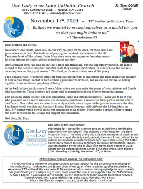 11.17.2019 Bulletin