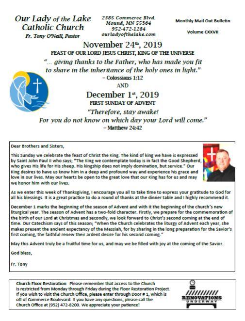 11.24.2019 Bulletin