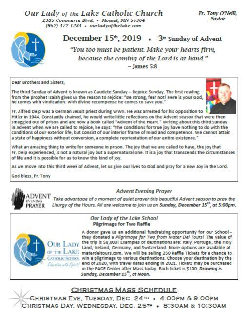 12.22.2019 Bulletin