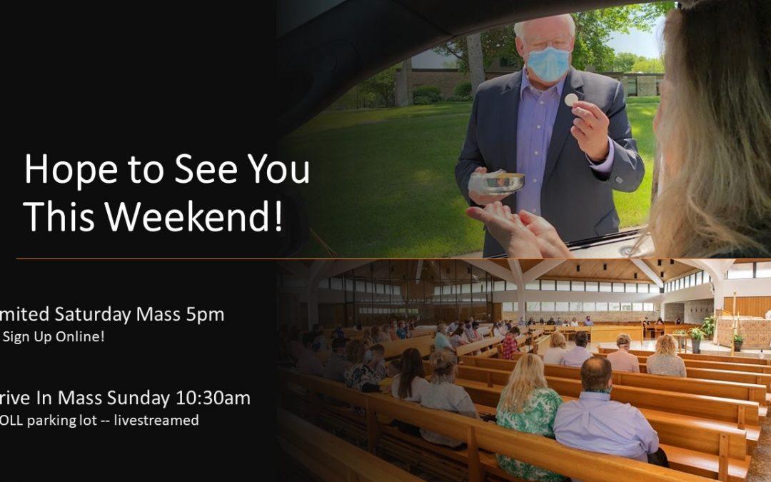 June 27th Weekend Masses