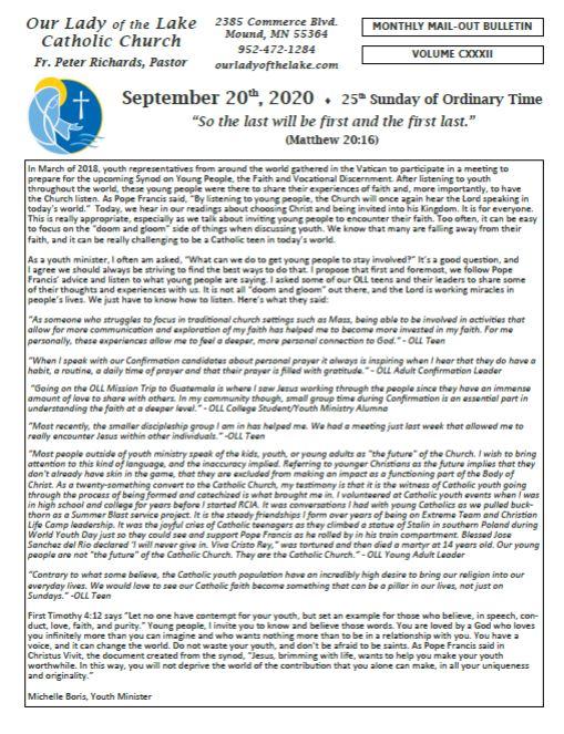 09.20.2020 Bulletin