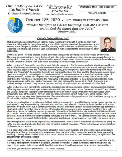 10.18.2020 Bulletin