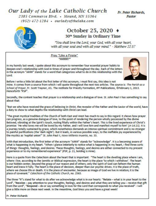 10.25.2020 Bulletin