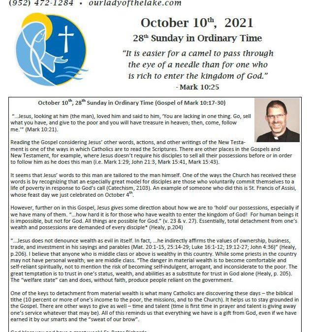 10.10.2021 Bulletin